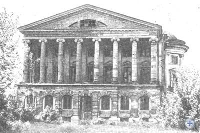 Памятник архитектуры конца XVIII — начала XIX в.— дворец К. Г. Разумовского в Батурине. 1981 г.