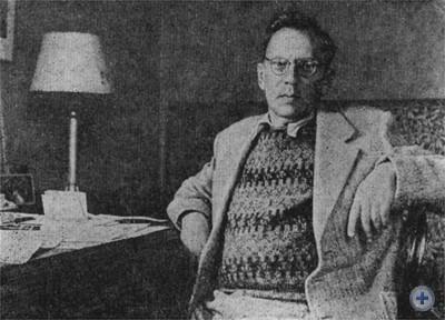 Русский советский писатель П. А. Павленко. 1946 г.