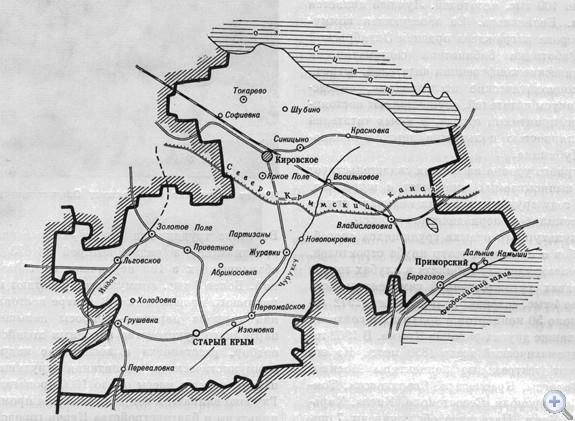 Площадь района — 1,4 тыс. кв. км, население — 57,1 тыс. человек, в т. ч. сельского — 41,5 тыс. Средняя плотность населения — 41,4 человек на 1 кв. км. Городскому, поселковому и 11 сельским Советам подчинены 49 населенных пунктов. На предприятиях, в колхозах учреждениях — 72 первичные партийные, 67 комсомольских и 112 профсоюзных организаций. В экономике ведущее место принадлежит сельскохозяйственному производству. За 5 колхозами, 8 совхозами и подсобным хозяйством «Каштановка» закреплено 91,6 тыс. га земельных угодий, из них 46,3 тыс. га пахотной земли. В районе — 4 промышленных предприятия, 3 строительных организации. Население обслуживают 4 больницы, амбулатория, 28 фельдшерско-акушерских пунктов. В 24 школах, в т. ч. 13 средних, 6 восьмилетних, 5 начальных, обучается 9326 учащихся. Культурно-просветительную работу ведут 22 клуба, 14 домов культуры, 37 массовых библиотек. Имеется 2 музыкальные школы, 55 киноустановок. В районе — 4 памятника В. И. Ленину. В 22 населенных пунктах установлено 38 памятников п мемориальных досок в честь воинов-освободителей и односельчан, погибших в годы гражданской и Великой Отечественной войн, памятников культуры — 3.