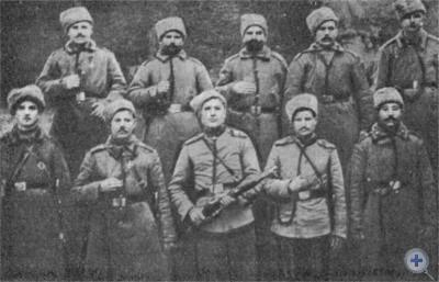 Группа новомосковских партизан. 1919 г.