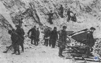 Разработка карьера в Кривбассе. 1932 г.