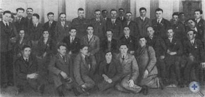 М. И. Калинин среди награжденных металлургов Днепропетровщины. 1939 г.