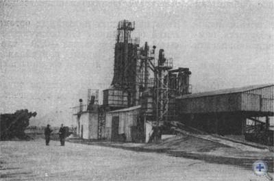 Механизированный ток колхоза им. О. В. Кошевого. Райполе, 1976 г.
