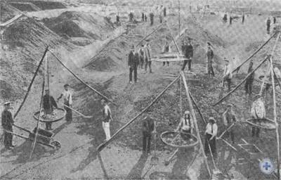 Сухое обогащение марганцевой руды на Покровском марганцевом руднике. 1906—1907 гг.