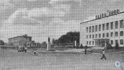 Площадь В. И. Ленина в Покровском. 1975 г.