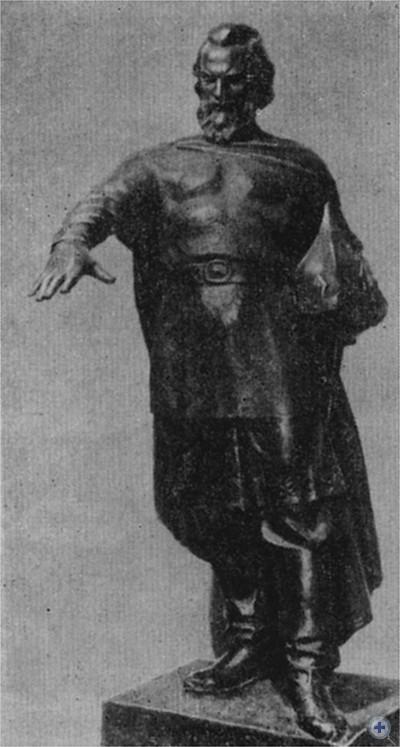 Князь Даниил Романович Галицкий — основатель Львова. Скульптор Ф. Бриж. 1956 г.