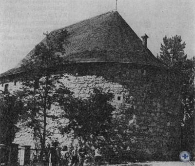 Памятник архитектуры XVI в.— пороховая башня. Львов, 1975 г.