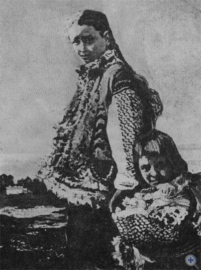 «Гуцулка с ребенком». И. И. Труш. Масло. 1912 г.