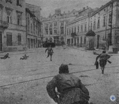 Уличные бои во Львове. Июль 1944 г.