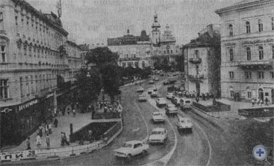 В центре Львова. 1976 г.