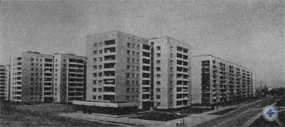 Новые жилые дома по улице маршала П. С. Рыбалко. Львов, 1976 г.