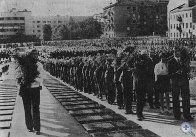 Воинский мемориал. Львов, 1977 г.