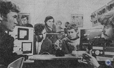 Практические занятия в лаборатории Турковского электротехнического училища № 3. 1976 г.