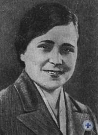 Л. Г. Белушенко—передовая сварщица Черноморского судостроительного завода. 1939 г.