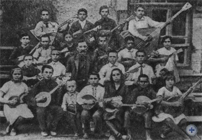 Оркестр народных инструментов под руководством Г. Ф. Манилова. 20-е годы.