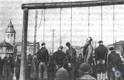 Советские патриоты, казненные фашистами. Николаев, 1942 г.