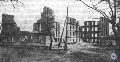 Разрушенные фашистами жилые дома в Николаеве. 1944 г.
