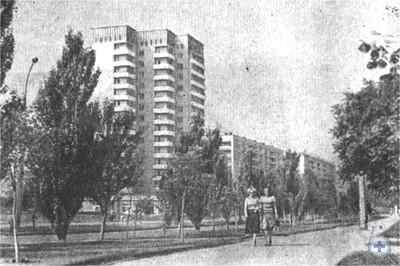 Новые жилые дома на проспекте Ленина в Николаеве, 1980 г.