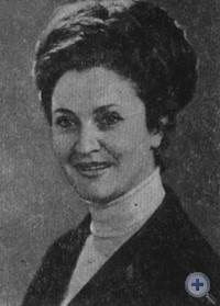 Народная артистка УССР Н. П. Троянова. 1970 г.
