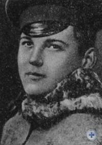 В. И. Дробязко, токарь Екатерининских мастерских, один из первых комсомольцев города Александровска. 1918 г.