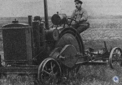 Первый отечественный колесный трактор «Запорожец», 1923 г.