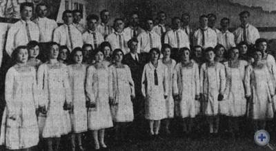 Хоровая капелла «Дніпрельстан». Запорожье, 1929 г.