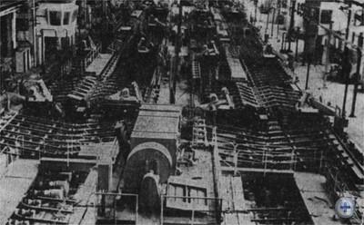 Механизированная линия отделки проката в прокатном цехе завода «Днепроспецсталь». Запорожье, 1979 г.
