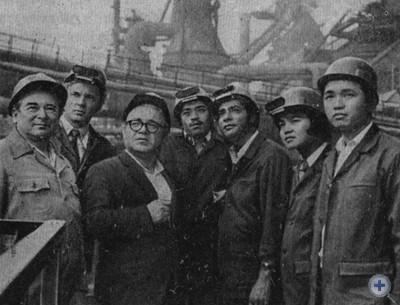 Участники международного семинара-практикума стипендиатов ООН на заводе «Запорожсталь». 1979 г.