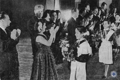 Артисты киевских театров в колхозном Дворце культуры. Восход, 1962 г.