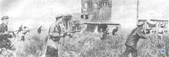 Бой славянских партизан с гитлеровскими оккупантами. Село Маяки, 1942 г.