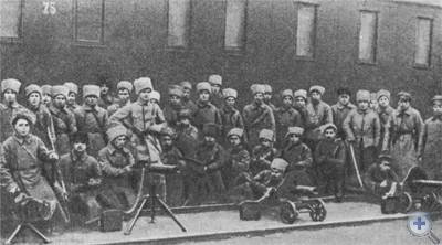Отряд екатеринославцев — участников борьбы против калединцев. 1918 г.