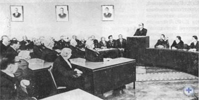 Встреча членов бюро Днепропетровского обкома Компартии Украины с ветеранами партии, посвященная 60-летию Великого Октября. Днепропетровск, 31 октября 1977 г.