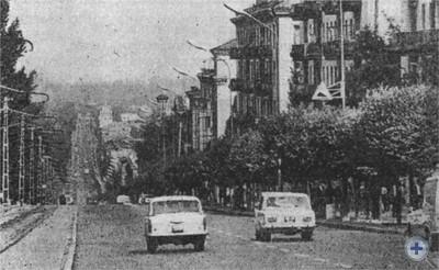 Проспект В. И. Ленина в Днепродзержинске. 1976 г.