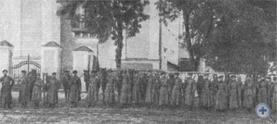Боевой отряд, принимавший участие в ликвидации кулацких банд. Кривой Рог, 1919 г.