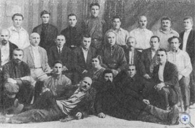 Активные участники революционного движения и гражданской войны в Криворожье. Фото 1927 г.