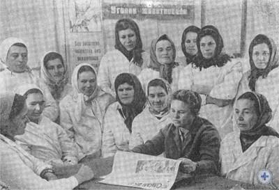Политинформация в колхозе им. Б. Хмельницкого. Шолохово, 1976 г.