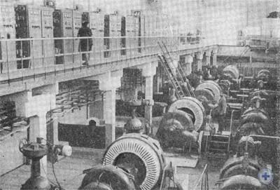В машинном зале насосной станции колхоза «Аврора». Приднепровское, 1976 г.