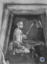 Добыча руды в шахте № 1 Покровского марганцевого рудника. 1906—1907 гг.