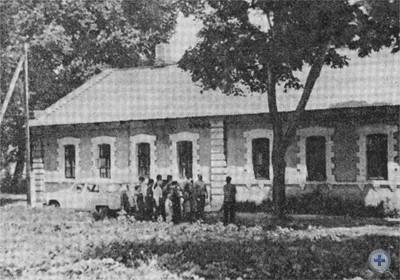 Дом, в котором работал Д. И. Ульянов. Синельниково, 1967 р.