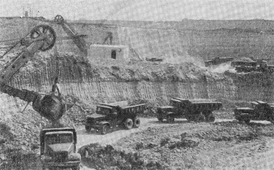 На Малочкаловском карьере Богдановского рудника. 1965 г.