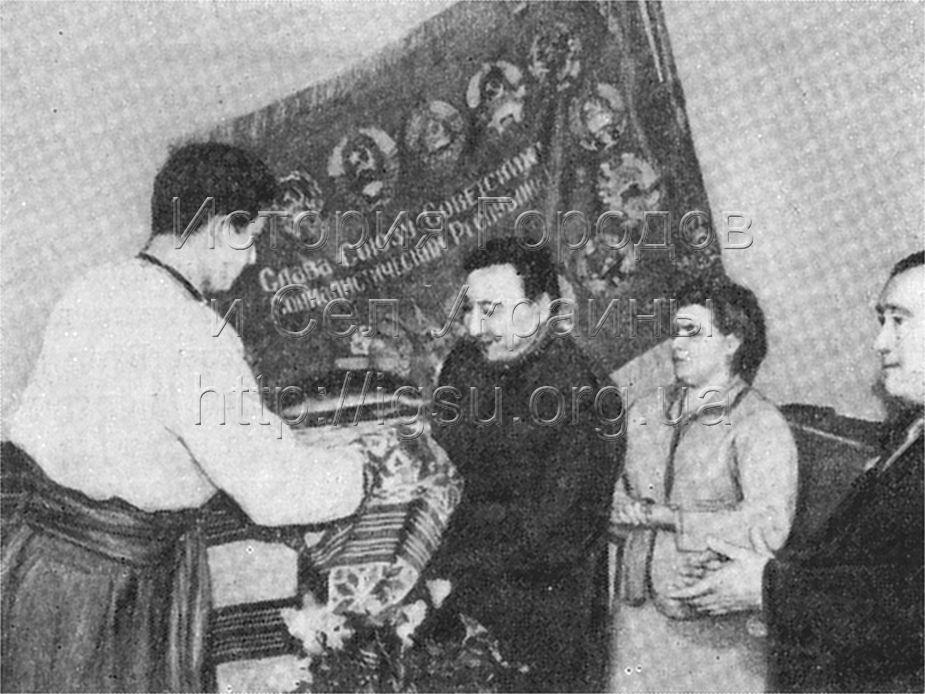 Встреча посланцев киргизского народа в колхозе «Україна». Булаховка, 1967 г.