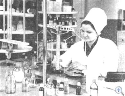 В аптеке с. Катериновки. 1976 г.
