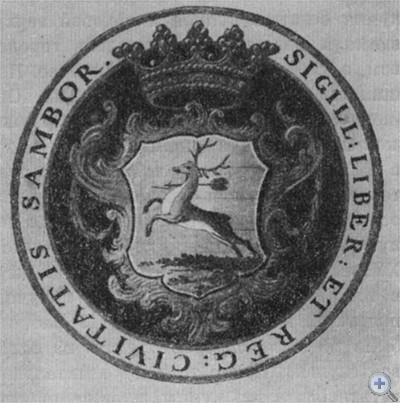 Печать с гербом Самбора.