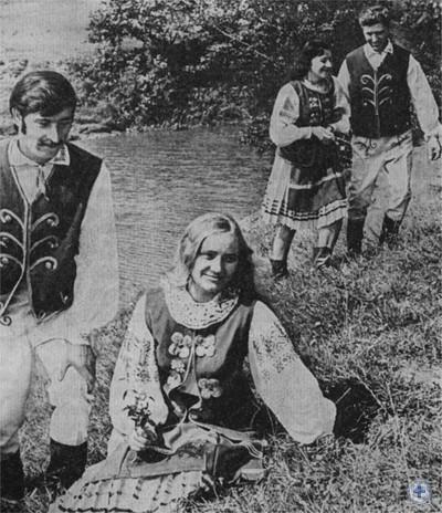 Молодежь Чайковичей на отдыхе. 1977 г.