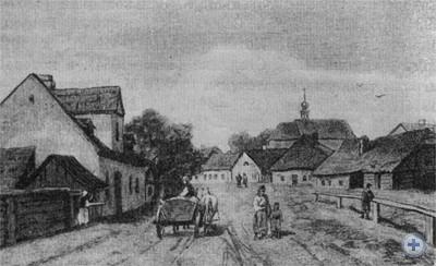 Улица Вильшана в Стрые. 1886 г.
