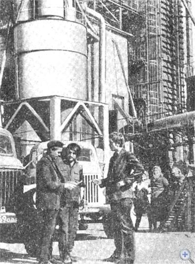 На Затишанском хлебоприемном пункте Фрунзовского района. 1975 г.