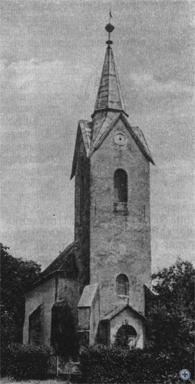 Памятник архитектуры XV в. — костел в Новом Селе. 1980 г.